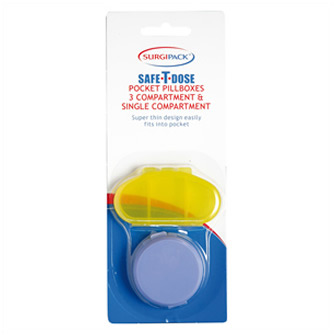 Surgipack<sup>®</sup> Safe-T-Dose Pocket Pill Boxes