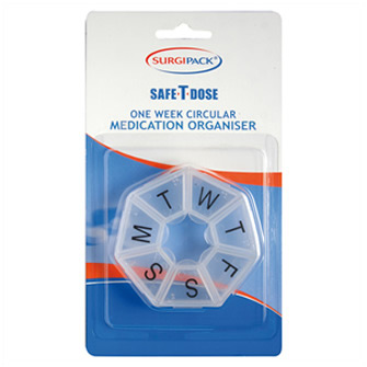 Surgipack<sup>®</sup> Safe-T-Dose Round Organiser