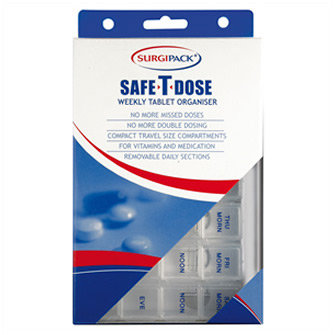 Surgipack<sup>®</sup> Safe-T-Dose Weekly 4 Dose Per Day Organiser Small