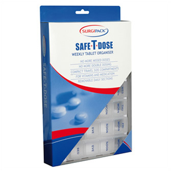Surgipack<sup>®</sup> Safe-T-Dose Weekly 4 Dose Per Day Organiser Large