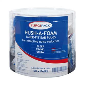 Surgipack<sup>®</sup> Hush-A-Foam Taperfit Ear Plugs 1 Pair Barrel